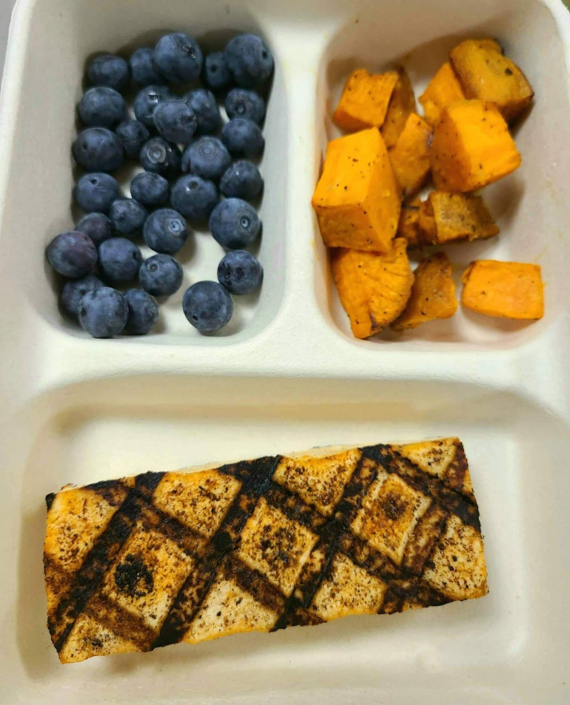 Kids lunch: Grilled Tofu