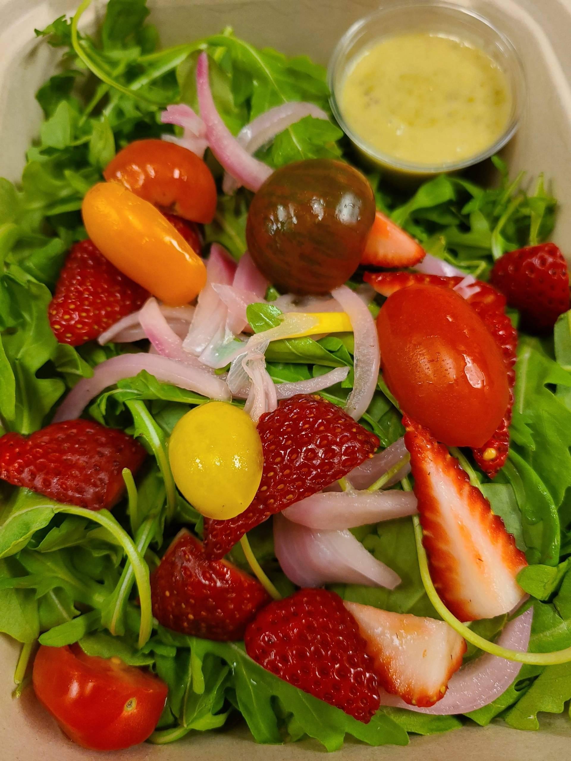 Arugula Salad- salmon burger