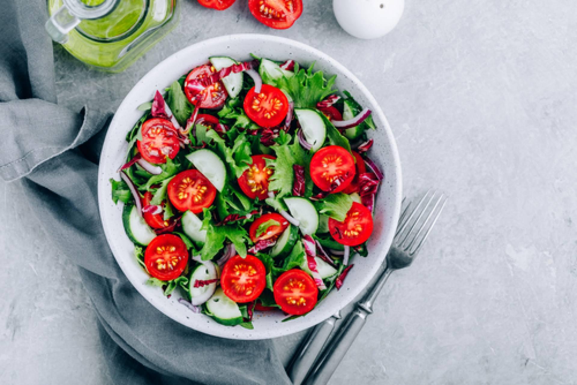 Local Romaine Salad-salmon