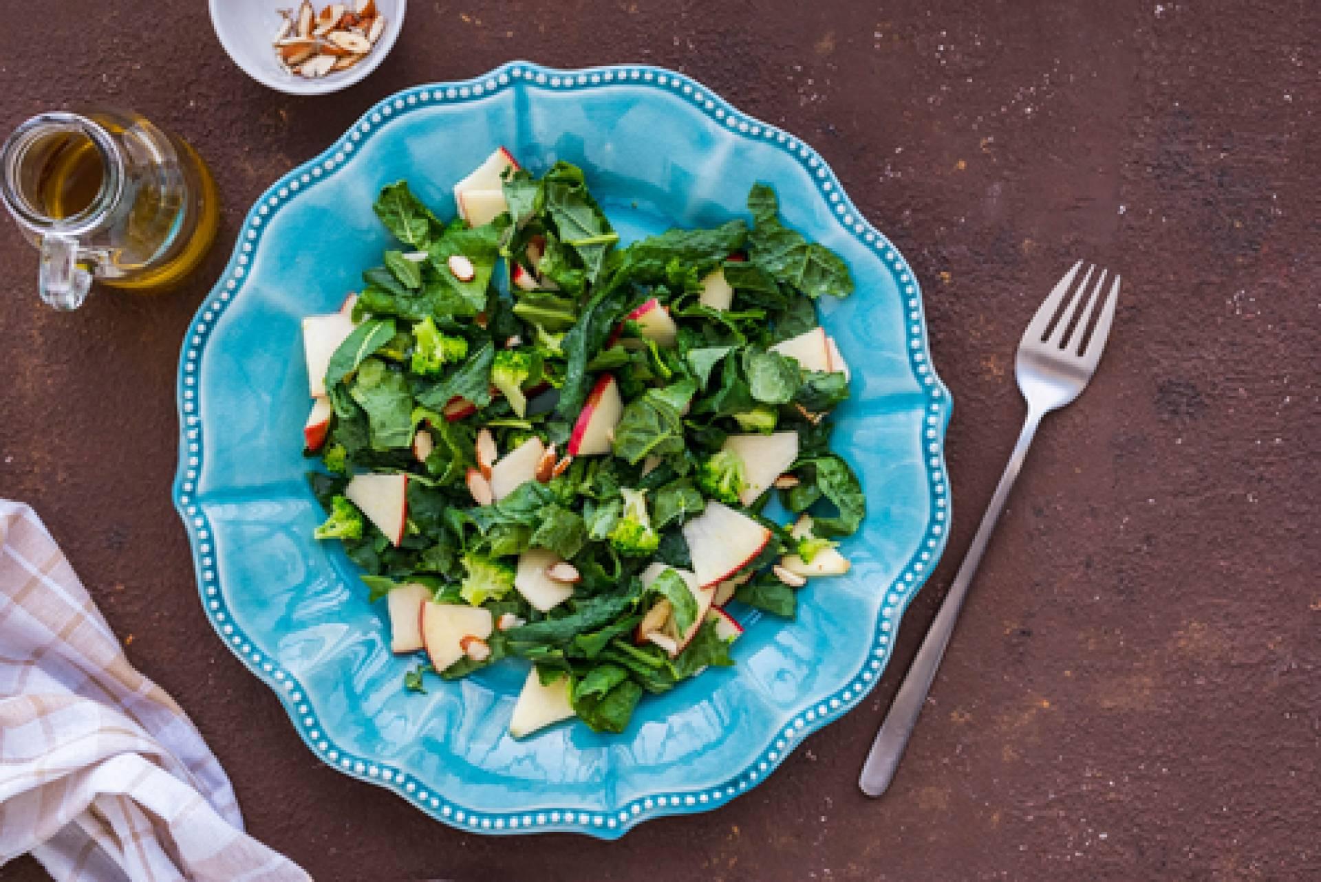 Native Apple Salad-salmon