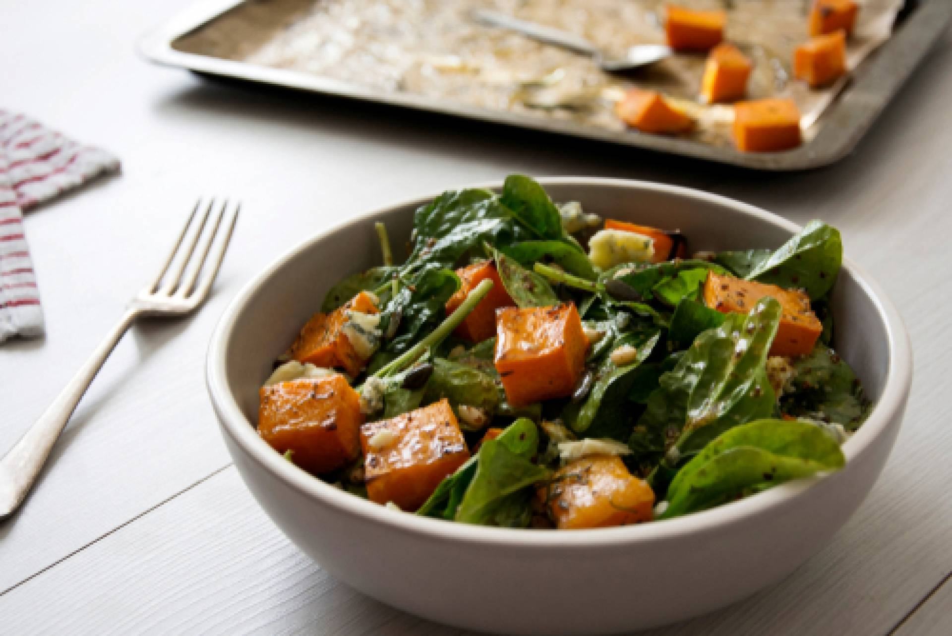 Fall Arugula Salad-Salmon