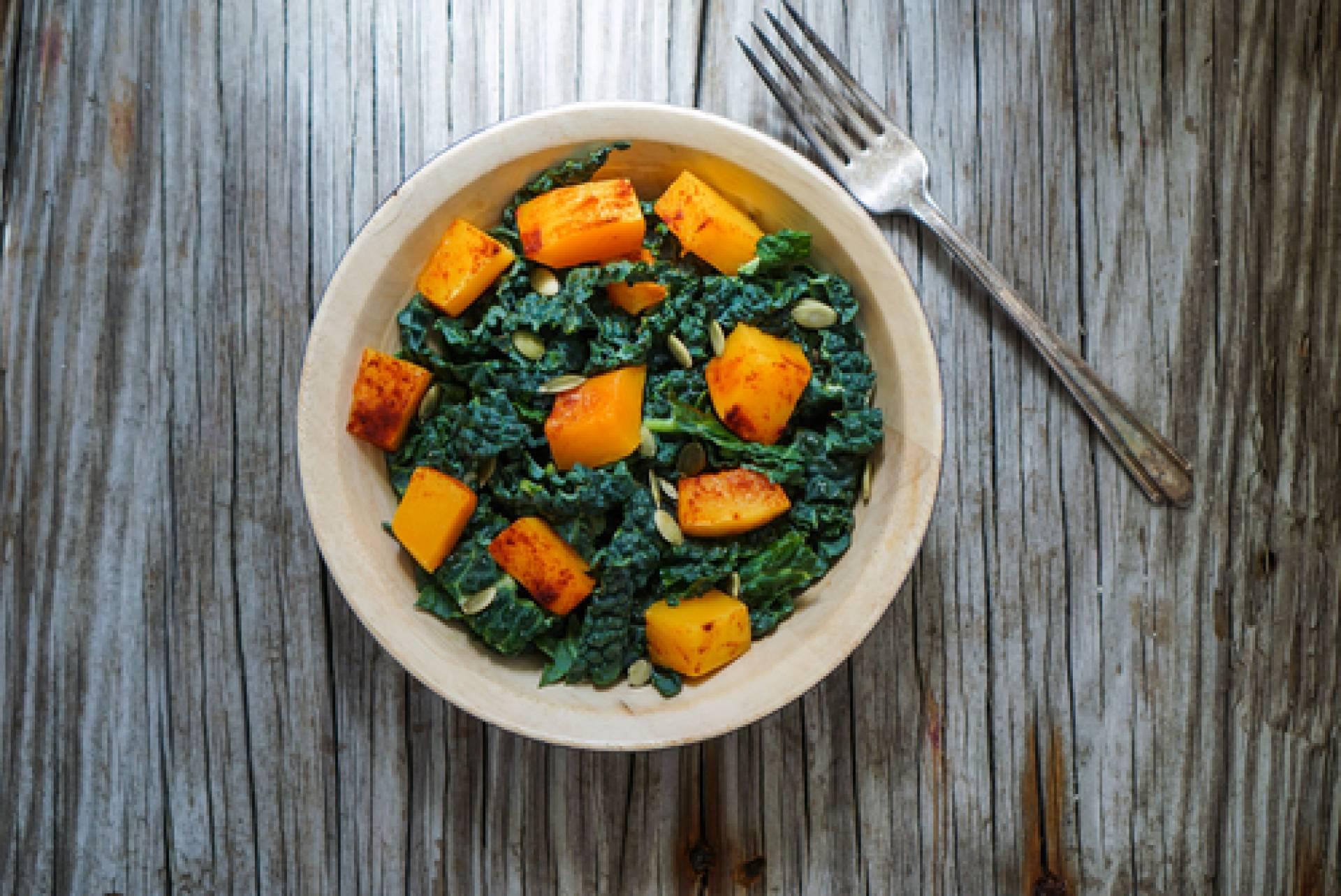 Kale Fig Balsamic Salad-Tofu