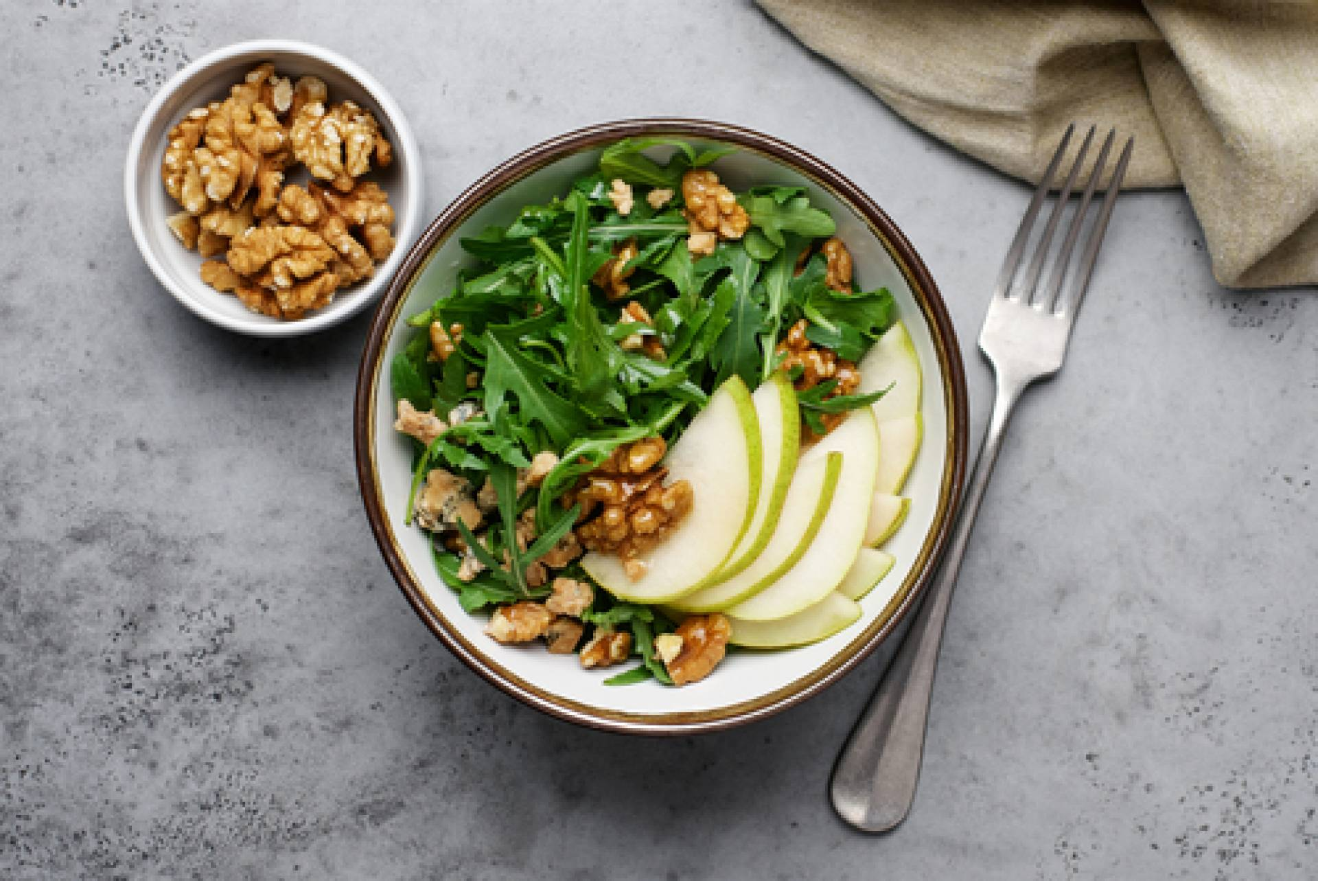 Arugula & Poached Pear Salad